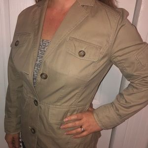 Lands' End safari style fitted jacket